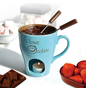 I Love Chocolate Fondue Set