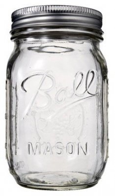 transparent mason jar