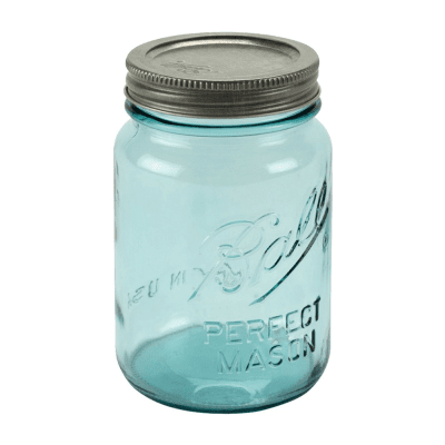 Aqua mason ball jar 473ml