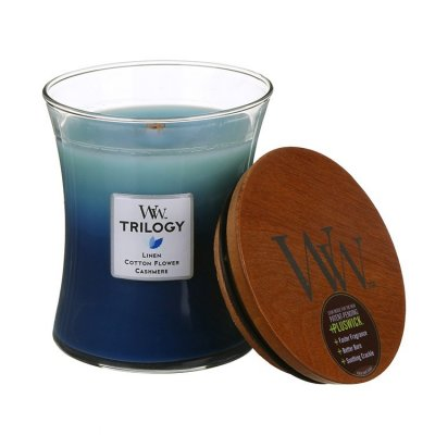 woodwick doftljus trilogy clothesline fresh medium