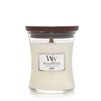 woodwick doftljus linen medium